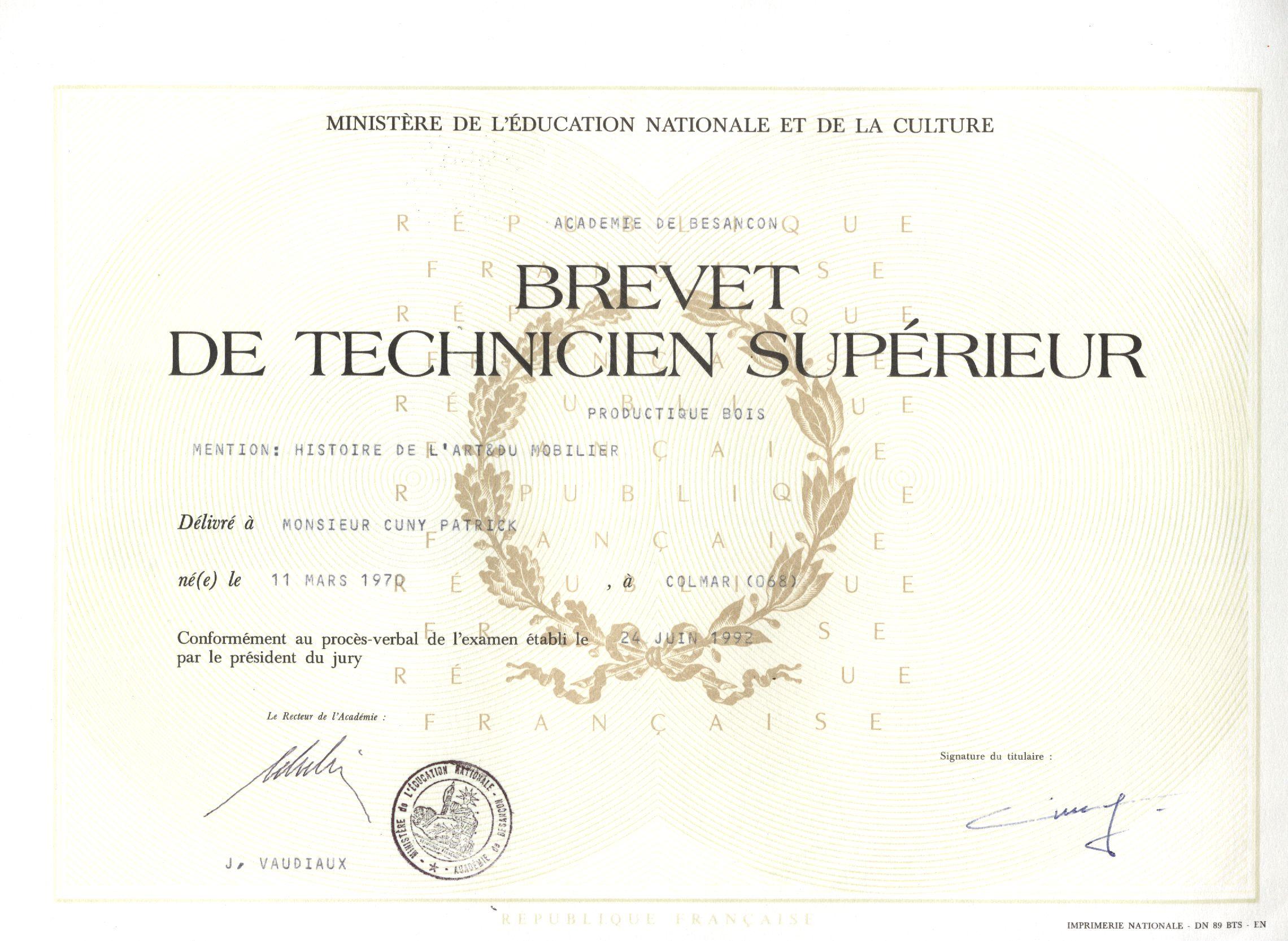 نتيجة بحث الصور عن brevet de technicien supérieur en france